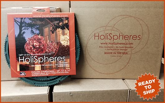 HoliSpheres ready to ship